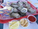 Oysters on the Half Shell, Raw Bar Up the Creek, Apalachicola, FL